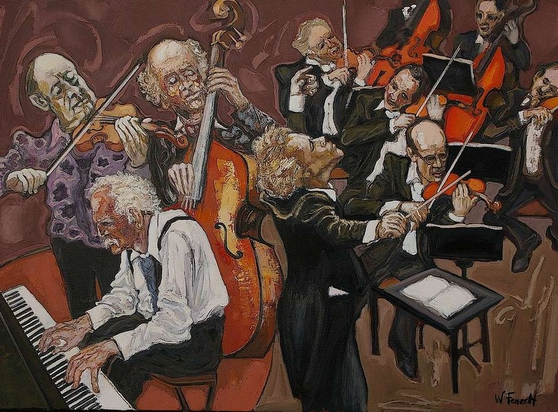 William FENECH - Peinture - Hot Jazz