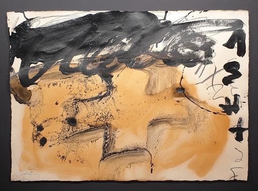 Antoni TAPIES - Painting - silueta de cruz