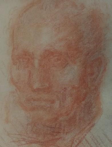 Isidore Marie PEYRET - Dibujo Acuarela - Portrait à la sanguine