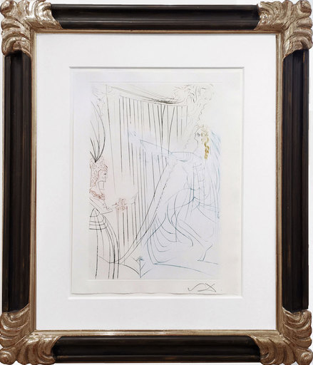 萨尔瓦多·达利 - 版画 - Tristan und Isolde - Isolde an der Harfe