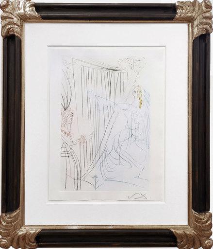 Salvador DALI - Print-Multiple - Tristan und Isolde - Isolde an der Harfe