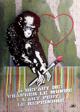 Rénald ZAPATA - Peinture - A défaut de changer le monde