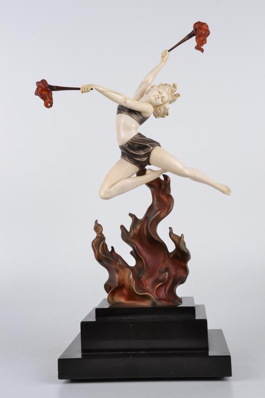 Johann Philipp PREISS - Escultura - Flame Leaper