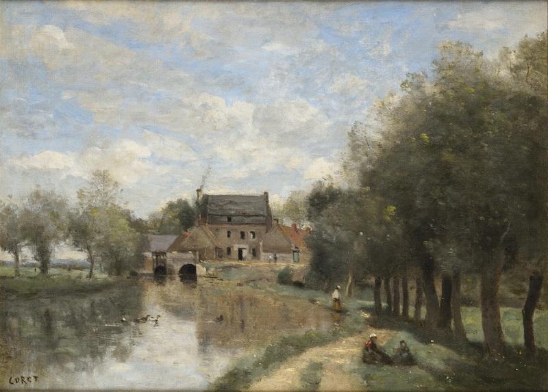 Camille Jean-Baptiste COROT - Peinture - Arleux-du-Nord. Le Moulin Drocourt sur la Sensée