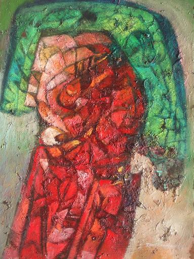 Raul Enmanuel POZO - Pintura - Simbolos y texturas II