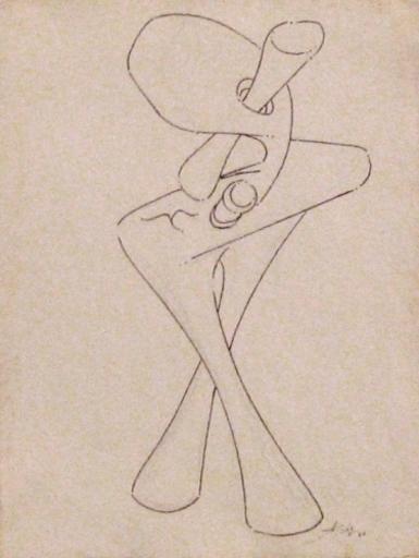 Augustin CARDENAS - Dessin-Aquarelle - Figure