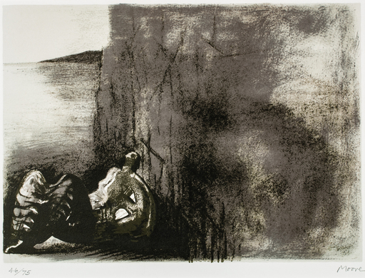 Henry MOORE - Stampa-Multiplo - Reclining figure