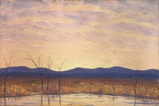 Giovanni MOLTENI - Peinture - Tramonto invernale