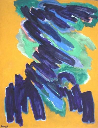 Robert HELMAN - Pintura - Germination 1974