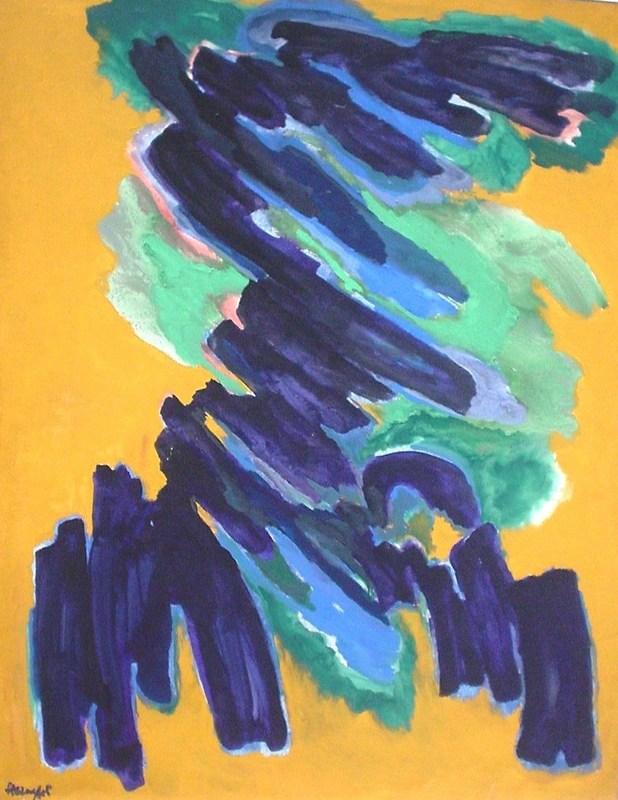 Robert HELMAN - Painting - Germination 1974