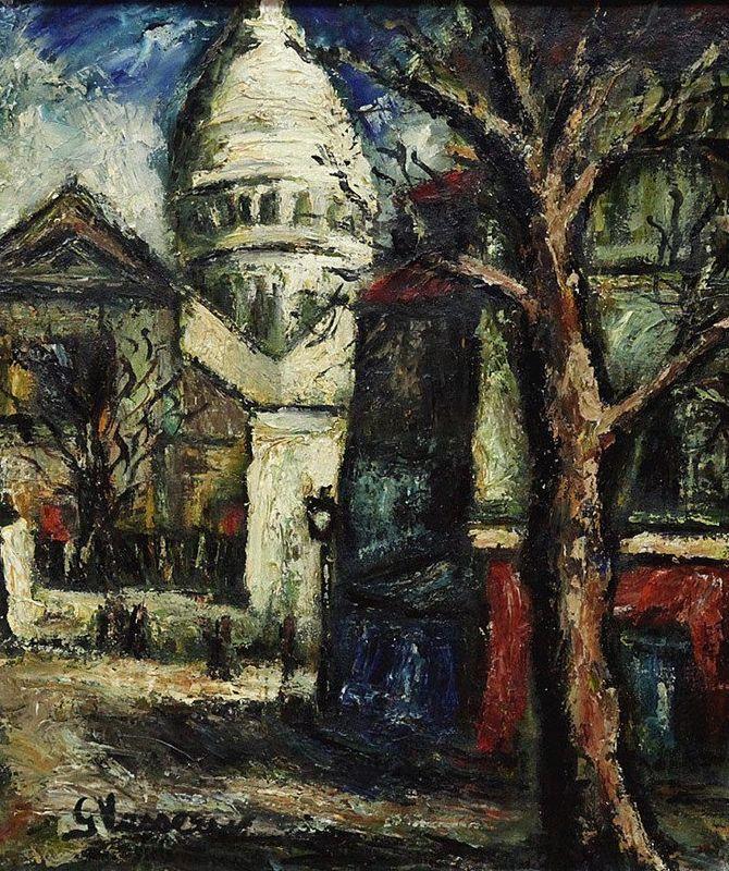 Georges VASSEUR - Pintura - sacre coeur montmartre