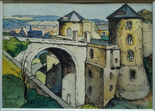 Gaston BALANDE - Dessin-Aquarelle - Citadelle de Namur
