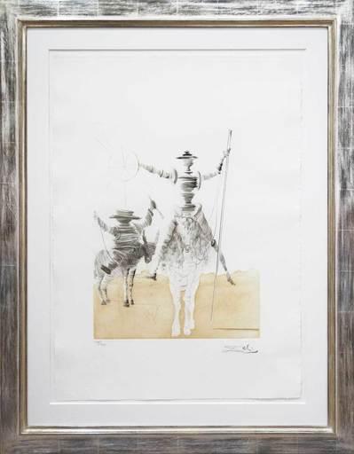 萨尔瓦多·达利 - 版画 -  Don Quijotte und Sancho Panza