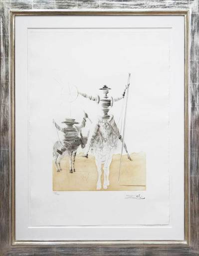 Salvador DALI - Print-Multiple -  Don Quijotte und Sancho Panza