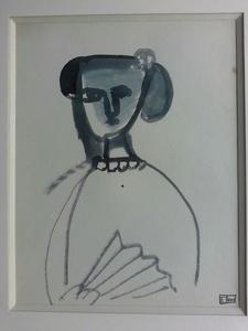 Francisco BORES - Dessin-Aquarelle - L'ESPAGNOL