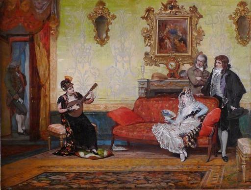 Vicente PALMAROLI Y GONZALEZ - Painting - CONCIERTO DE MANDOLINA