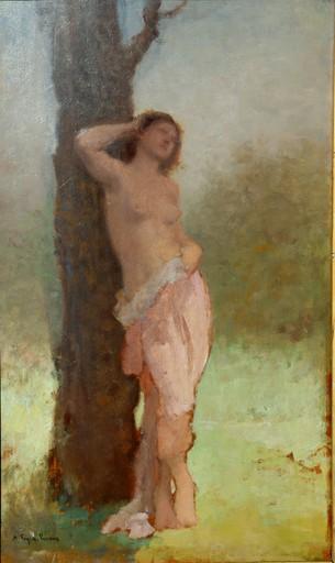 "François FEYEN-PERRIN - Pintura - ""UNE DRYADE"""