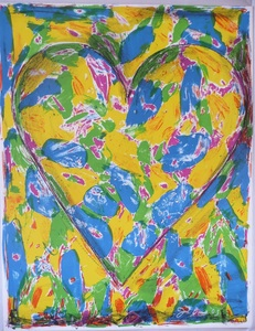 Jim DINE, Blue Heart