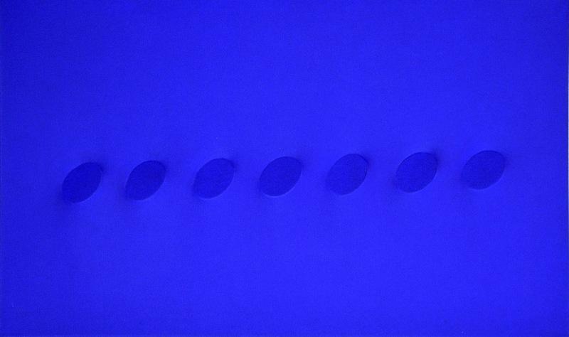 Turi SIMETI - 绘画 - Sette ovali blu