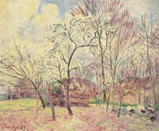 Alfred SISLEY - Painting -  Premier Jour de Printemps à Morey