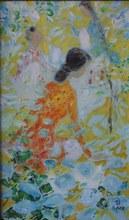 黎譜 - 绘画 - Three women in a flower garden