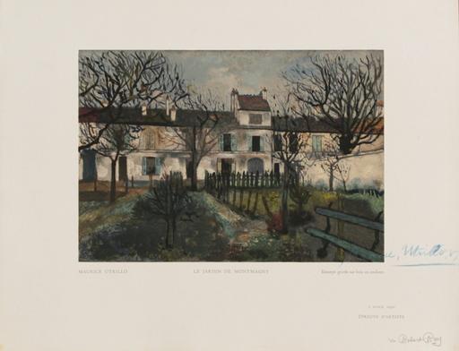 Maurice UTRILLO - Grabado - Le Jardin de Montmagny
