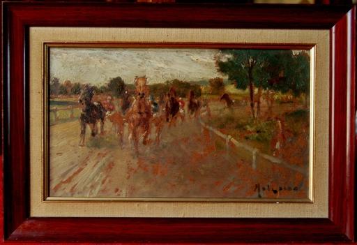Louis-Ferdinand MALESPINA - Pintura - course de trot