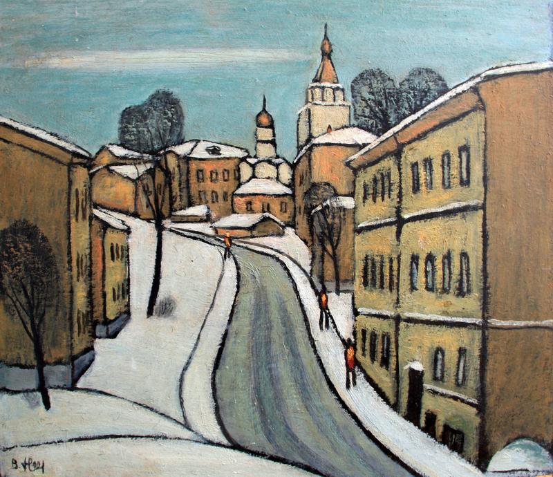 """Valeriy NESTEROV - Painting - """"Khitrovka"""" Moscow"""