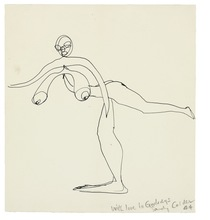 Alexander CALDER (1898-1976) - NUDE BALANCING ON ONE FOOT