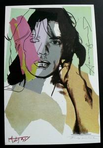 Andy WARHOL - Grabado - Mick Jagger