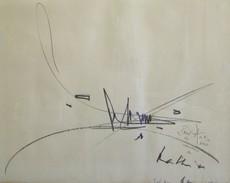 Georges MATHIEU - Dibujo Acuarela - Composition,1962