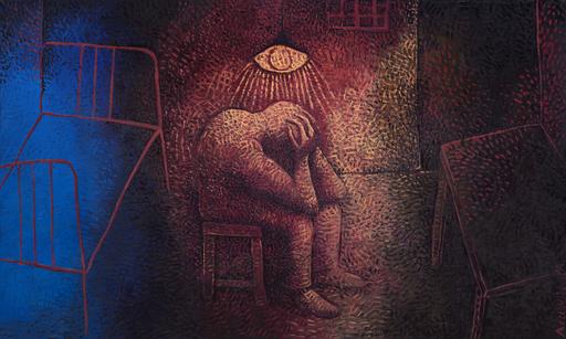 Alexander AIZENSHTAT - Painting - The Prisoner
