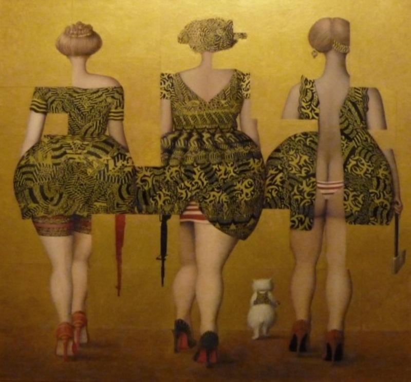 Jeanne LORIOZ - Painting -  Partisannes