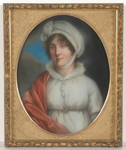 "Johann Christian A. SCHWARTZ - 缩略图  - ""Amalie, Grand Duchess of Baden"", important pastel portrait!"