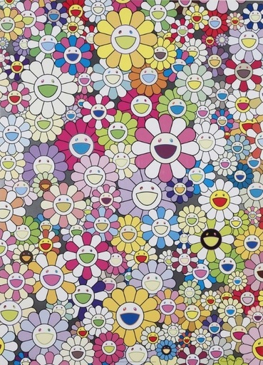 Takashi MURAKAMI - Print-Multiple - An Homage to Yves Klein Multicolor B