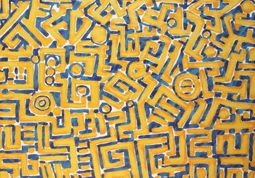 Bernd SCHWARZER - Grabado - Europäisches Labyrinth