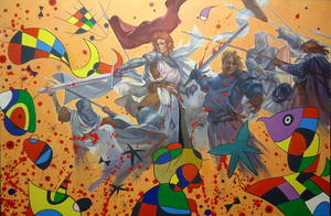 Alexander SAVKO - Pintura - WAR FOR THE UNDEFINED: Sorry, monsieur!