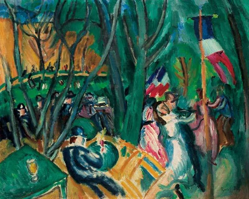 Raoul DUFY - Peinture - Le Bal Populaire