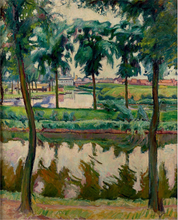 Emile Othon FRIESZ - Painting - Canaux à Anvers
