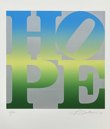 Robert INDIANA - Grabado - Four Seasons of Hope (Green)