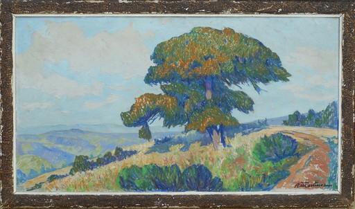 Raymond MARTINEZ - Pintura - paysage de l'ALLIER