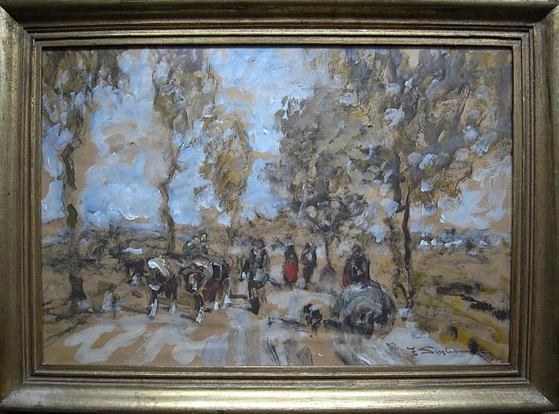 "Julius SEYLER - Pintura - ""Diessener Landstrasse"""