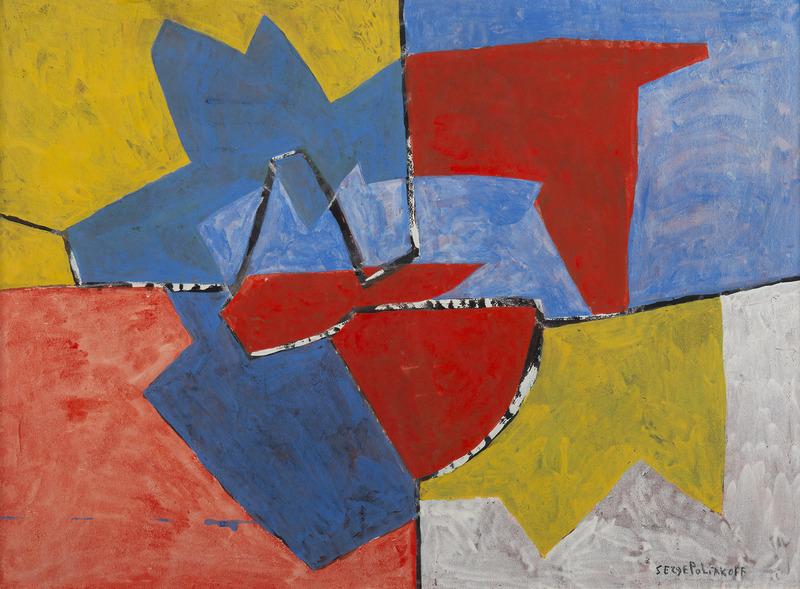 Serge POLIAKOFF - Disegno Acquarello - Composition 52-46