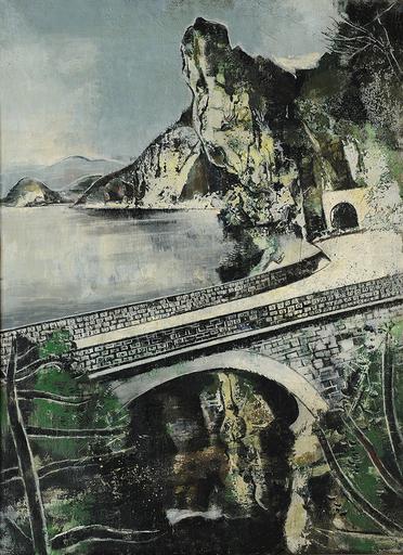 Xaver FUHR - Painting - Viadukt am Vierwaldstätter See