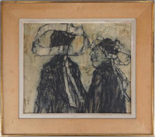 Claude WEISBUCH - Painting - Deux Bretonnes