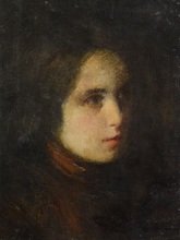 Jean Jacques HENNER - Painting - Portrait of a young Lady