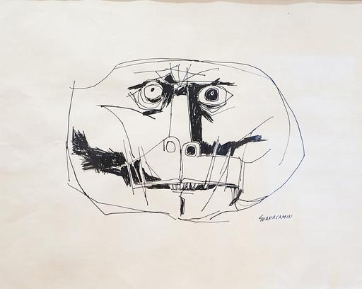 Oswaldo GUAYASAMIN - Zeichnung Aquarell - Babuino
