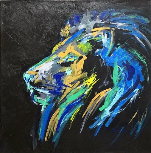 Nicole LEIDENFROST - Gemälde - Blaue Mähne