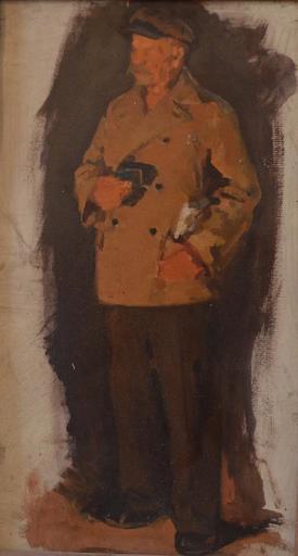 Evguéni DANILEVSKY - Pintura - Steel-maker, sketch for the Proof Steel painting