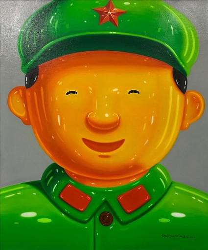 SHEN Jingdong - Painting - Happy Soldier